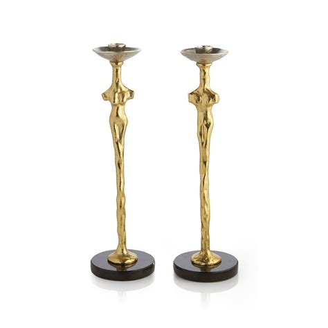 Adam & Eve Candle Holders (Set of 2) by Michael Aram