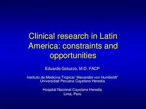 clinical research in latin america constraints and With clinical research experience