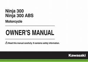 Kawasaki Ninja 300 Abs 2015 Owner U0026 39 S Manual