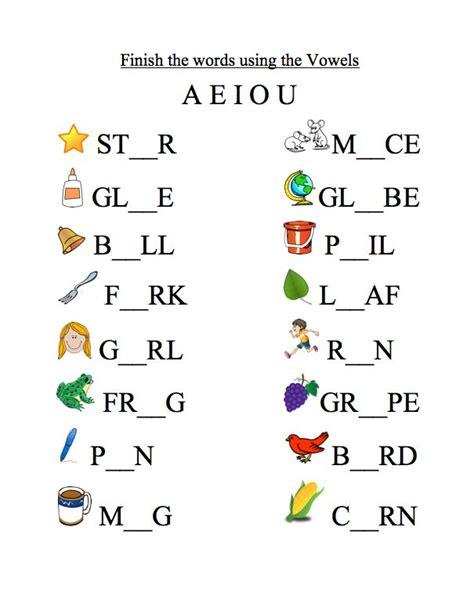 vowel worksheet  images english worksheets
