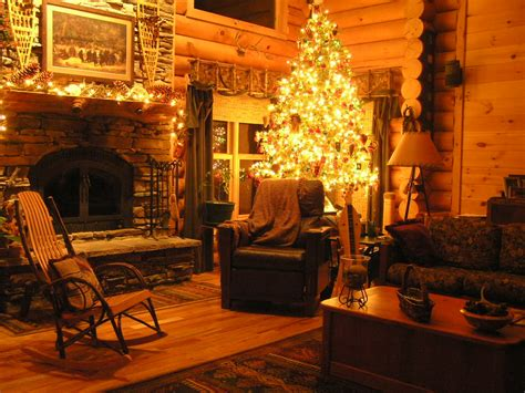 Cozy Christmas Home Decor: Log Home Christmas Photo By Smithlb