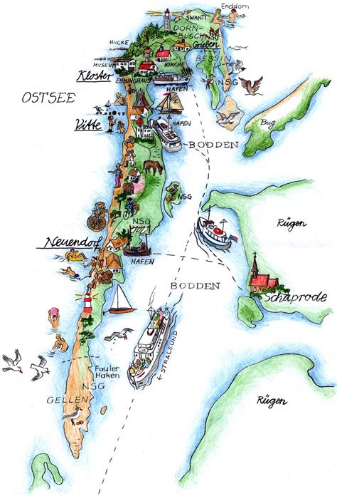 Hiddensee Karte Pdf