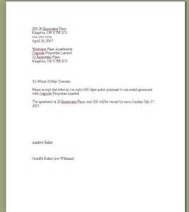 tenant to landlord 60 day notice letter