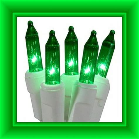 25v replacement lights with white base 2 5 volt green replacement mini lights 50 green bulbs white base ebay