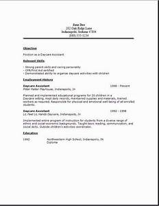 Daycare assistant resumeexamplessamples free edit with word for Daycare resume examples