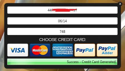 credit card generator v8 5 1 2014 free aks pc