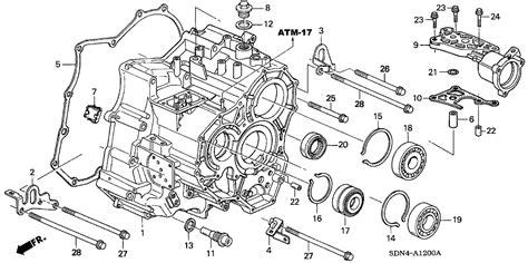 Honda Pilot Engine Diagram Transmission by 21210 315 Genuine Honda Transmission