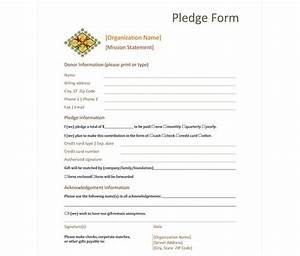 donation pledge form donation pledge form template With charity pledge form template