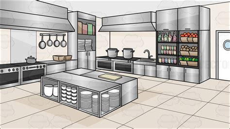 building a kitchen island with cabinets a kitchen restaurant background clipart vector