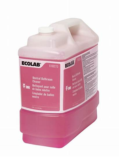Cleaner Neutral Bathroom Ecolab Glass Chemicals Number