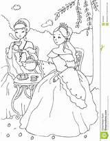 Coloring Tea Sheet Having Princesses Royalty sketch template