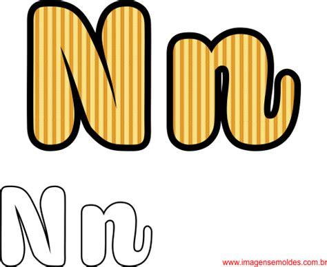 molde da letra n cursiva