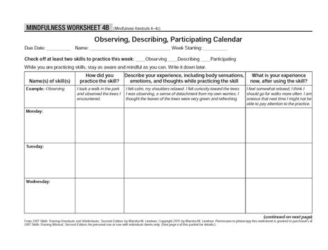 """Healing Schemas — Dbt Selfhelp Resources Mindfulness """"what Skills"""""""