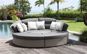 Rattan Lounge Rund : lounge furniture for garden and patio with fashionable round shapes ~ Indierocktalk.com Haus und Dekorationen