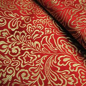 Montreal-classical-pattern-red-brocade-fabric-silk-fabrics ...