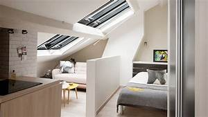 Chambre Sous Les Combles : comment am nager une chambre sous les toits ~ Melissatoandfro.com Idées de Décoration