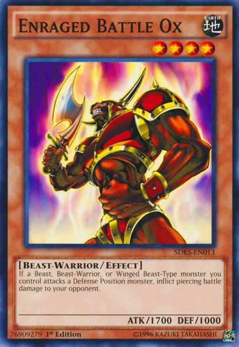 yugioh warrior beast monsters battle type ox enraged qtoptens