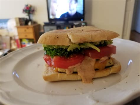 A Great Breakfast Sandwich Marinated And Fried Tofu