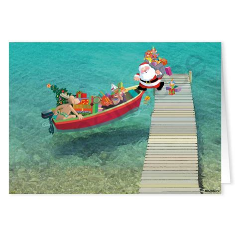 Boat Ride With Santa by Santa In A Boat Clipart 12