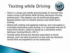 English Essay Samples Persuasive Essay On Texting While Driving Thesis Of An Essay also Essay About Healthy Food Persuasive Essay On Texting While Driving Best School Essay  How To Make A Good Thesis Statement For An Essay