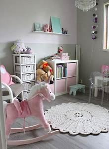 Deco Rose Pale : peinture couleur chambre fille grise meubles rose ~ Teatrodelosmanantiales.com Idées de Décoration