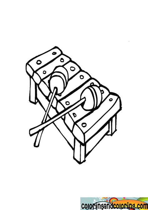 Coloring Xylophone by Xylophone Coloring Sheet Coloring Pages