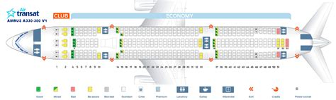 air transat selection siege air transat seating chart napma