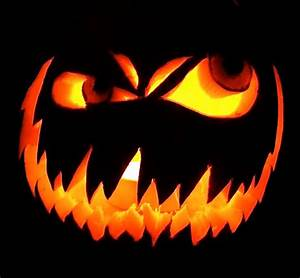 60 best cool creative scary halloween pumpkin carving With evil face pumpkin template
