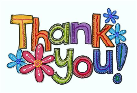 thank you clipart thank you colorful clipart