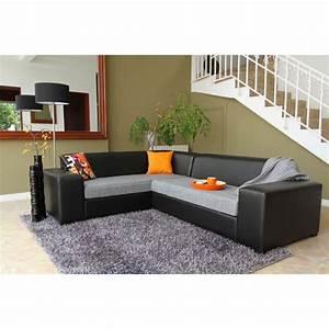 poke canape d39angle fixe noir gris aucune pickture With tapis shaggy avec surmatelas canapé d angle