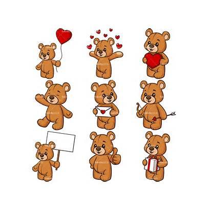 Teddy Bear Valentines Clipart Cartoon Vector Valentine