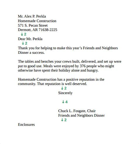 sample personal business letter  documents   word