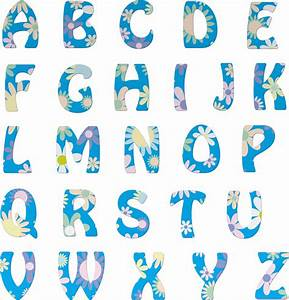 clipart floral alphabet With flower letters alphabet