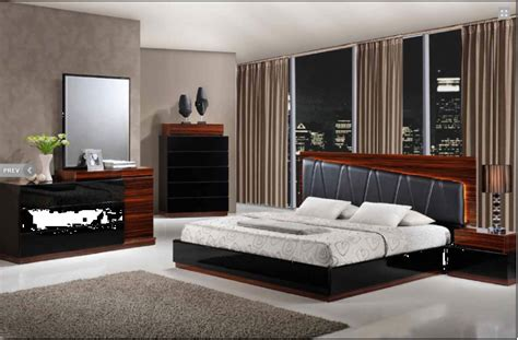 laura modern black wenge lacquered bedroom set  black