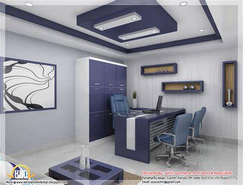 Beautiful 3D interior office designs - Kerala home design