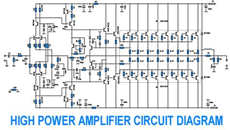Wiring Schematic Diagram Power Amplifier With