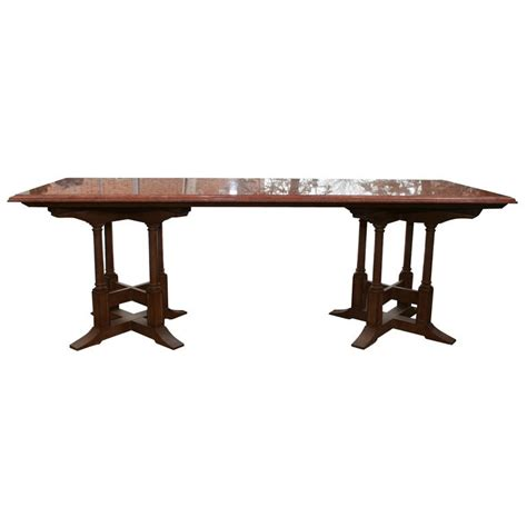 dining table bases for sale marble top dining table with gothic style wood base for