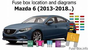 Fuse Box Location And Diagrams  Mazda 6  2013