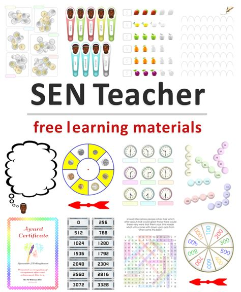 free teaching resources printable sen has printables specialist links software