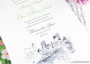 nyc central park skyline wedding invitations With wedding invitation shops nyc