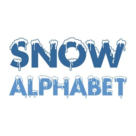 Snow Covered Letters by Snow Alphabet Cuttable Font
