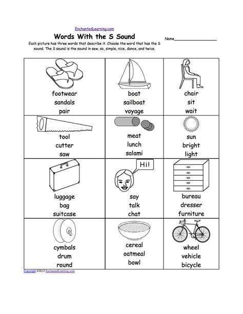 letter s alphabet activities at enchantedlearning