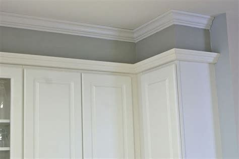 how to fix gap between ceiling and kitchen crown molding fixing that gap between the cabinets and the ceiling