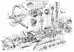 Exploded View Of A Single Cylinder Ducati Engine