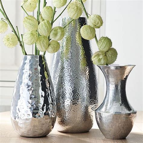 mixed hammered vase collection modern vases by west elm