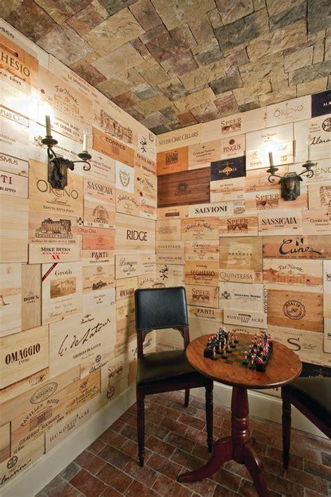 staggering wine crates decorating ideas
