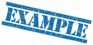 Example Blue Grungy Stamp Isolated On