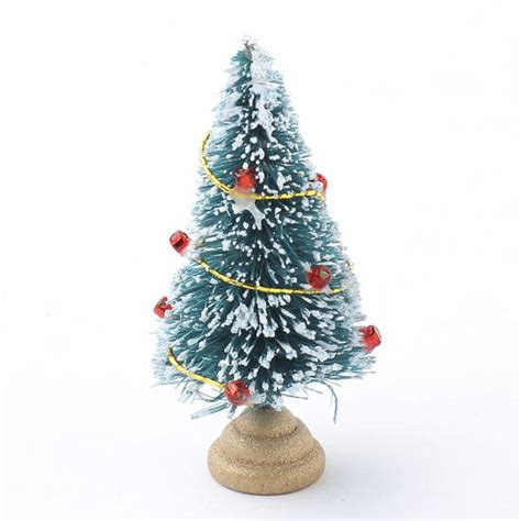 dollhouse miniature frosted bottle brush christmas tree