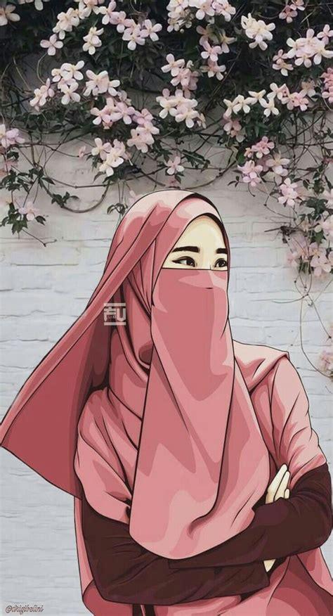 pin  kartun muslimah