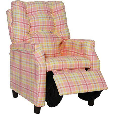 Plaid Recliner by Deluxe Recliner Pink Plaid Walmart